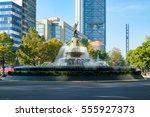 the diana the huntress fountain ...   Shutterstock . vector #555927373