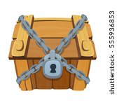 treasure chest for game. dower... | Shutterstock .eps vector #555936853