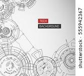 modern technology background... | Shutterstock .eps vector #555942367