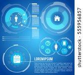 life planning futuristic... | Shutterstock .eps vector #555956857