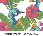 seamless vector pattern with... | Shutterstock .eps vector #555968563