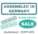assembled in germany rubber... | Shutterstock .eps vector #555971293