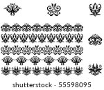 flower patterns and borders.... | Shutterstock . vector #55598095