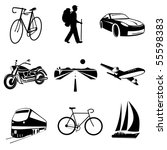 vector icons of transport | Shutterstock .eps vector #55598383