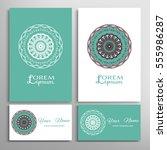 mandala sign symbol  colorful... | Shutterstock .eps vector #555986287