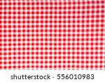 Red And White Linen Tablecloth...