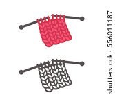 knitting with needles logo... | Shutterstock .eps vector #556011187