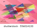 geometric elements pattern | Shutterstock .eps vector #556014133