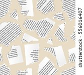 white torn paper pieces of text ... | Shutterstock .eps vector #556016407