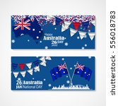 happy australia day celebration ... | Shutterstock .eps vector #556018783