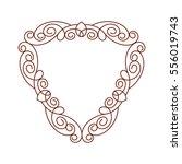 decorative frames .vintage... | Shutterstock .eps vector #556019743