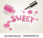 blots of nail polish isolated... | Shutterstock .eps vector #556049413