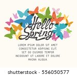colorful spring background with ... | Shutterstock .eps vector #556050577