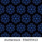 modern floral geometric pattern....   Shutterstock .eps vector #556055413