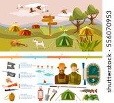 outdoor recreation infographics.... | Shutterstock .eps vector #556070953