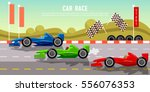 car racing banner tyre drift on ... | Shutterstock .eps vector #556076353