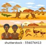 australia travel banner... | Shutterstock .eps vector #556076413