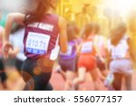blurred image of women marathon ... | Shutterstock . vector #556077157