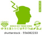 eco green head electric strike... | Shutterstock .eps vector #556082233