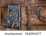 vintage photo camera and travel ... | Shutterstock . vector #556094377