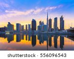 view on skyscrapers in modern... | Shutterstock . vector #556096543