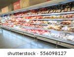 defocused blur of supermarket... | Shutterstock . vector #556098127