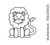 cute lion cartoon icon vector...   Shutterstock .eps vector #556103023