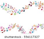 color music notes on a solide... | Shutterstock .eps vector #556117327