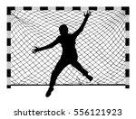 handball  soccer  goalkeeper... | Shutterstock .eps vector #556121923