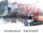 container  import export   use... | Shutterstock . vector #556141657