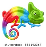 cartoon rainbow colored... | Shutterstock .eps vector #556143367