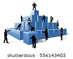 a business team of people... | Shutterstock .eps vector #556143403