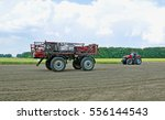 agricultural sprayer and... | Shutterstock . vector #556144543