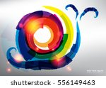abstract vector background.... | Shutterstock .eps vector #556149463