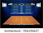basketball court with... | Shutterstock .eps vector #556150627