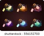 vector set bottles of potions... | Shutterstock .eps vector #556152703