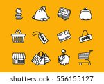vector business shopping  icons ... | Shutterstock .eps vector #556155127
