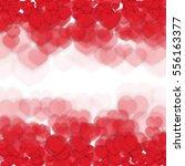 defocused background with hearts | Shutterstock .eps vector #556163377
