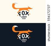 vector modern fox logo and... | Shutterstock .eps vector #556172737