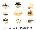 isolated colored beer hop logo... | Shutterstock .eps vector #556181227