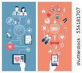 healthcare  hospitals  fitness... | Shutterstock .eps vector #556181707