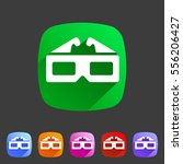 3d glasses anaglyph movie icon...   Shutterstock .eps vector #556206427