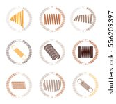 vector icon set with springs | Shutterstock .eps vector #556209397