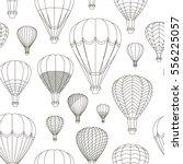 air balloons set pattern.... | Shutterstock .eps vector #556225057
