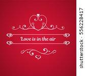 calligraphic elements  hearts... | Shutterstock .eps vector #556228417