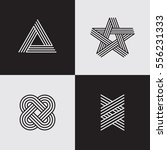 modern line logos. creative... | Shutterstock .eps vector #556231333