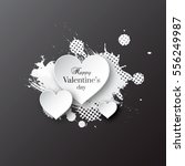 valentine's day background with ... | Shutterstock .eps vector #556249987
