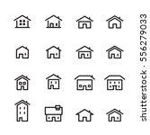 house line icon set | Shutterstock .eps vector #556279033