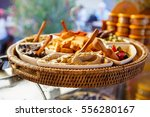 different tapenade of black and ... | Shutterstock . vector #556280167