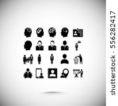 business man icons  vector best ... | Shutterstock .eps vector #556282417